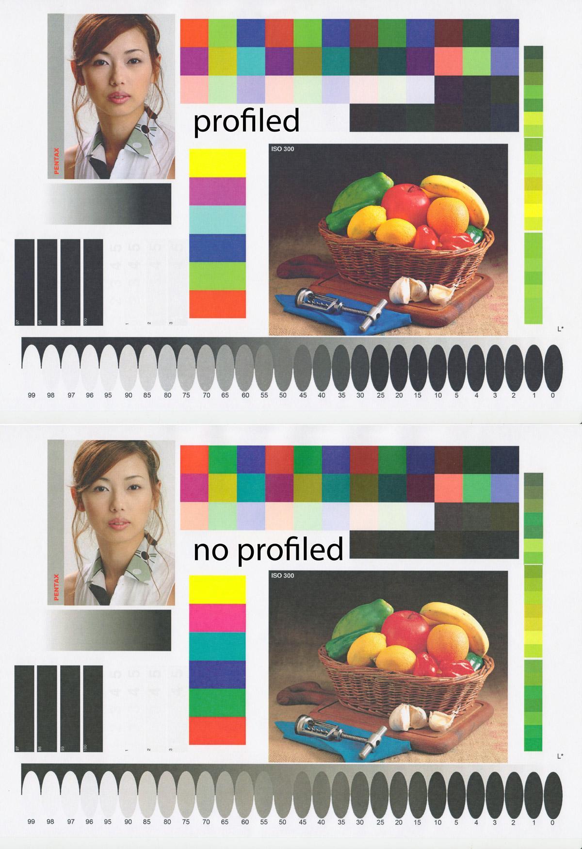 Результат построения профиля для цветного ЛАЗЕРНОГО принтера KYOCERA 5526cdn.
