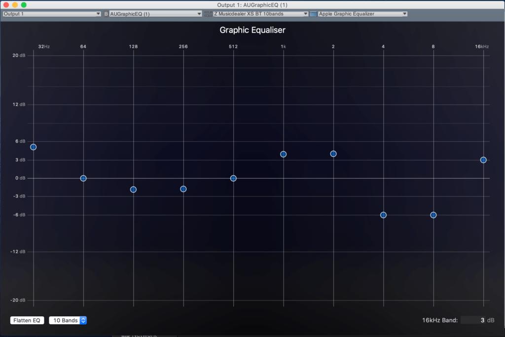 EQ Эквалайзер настройки АЧХ Z Musicdealer XS frequency response